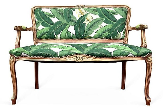 french settee loveseat love seat dining chairs upholstered in green