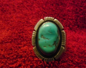 Old Navajo Turquoise Ring