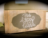 Wooden Box Wedding Decor For Happy Tears