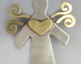Angel Pin, Small Angel Pin, Angel Jewelry, RP0057