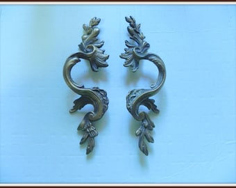 S~A~L~E~:  Pair of Vintage Detailed Drawer Pulls