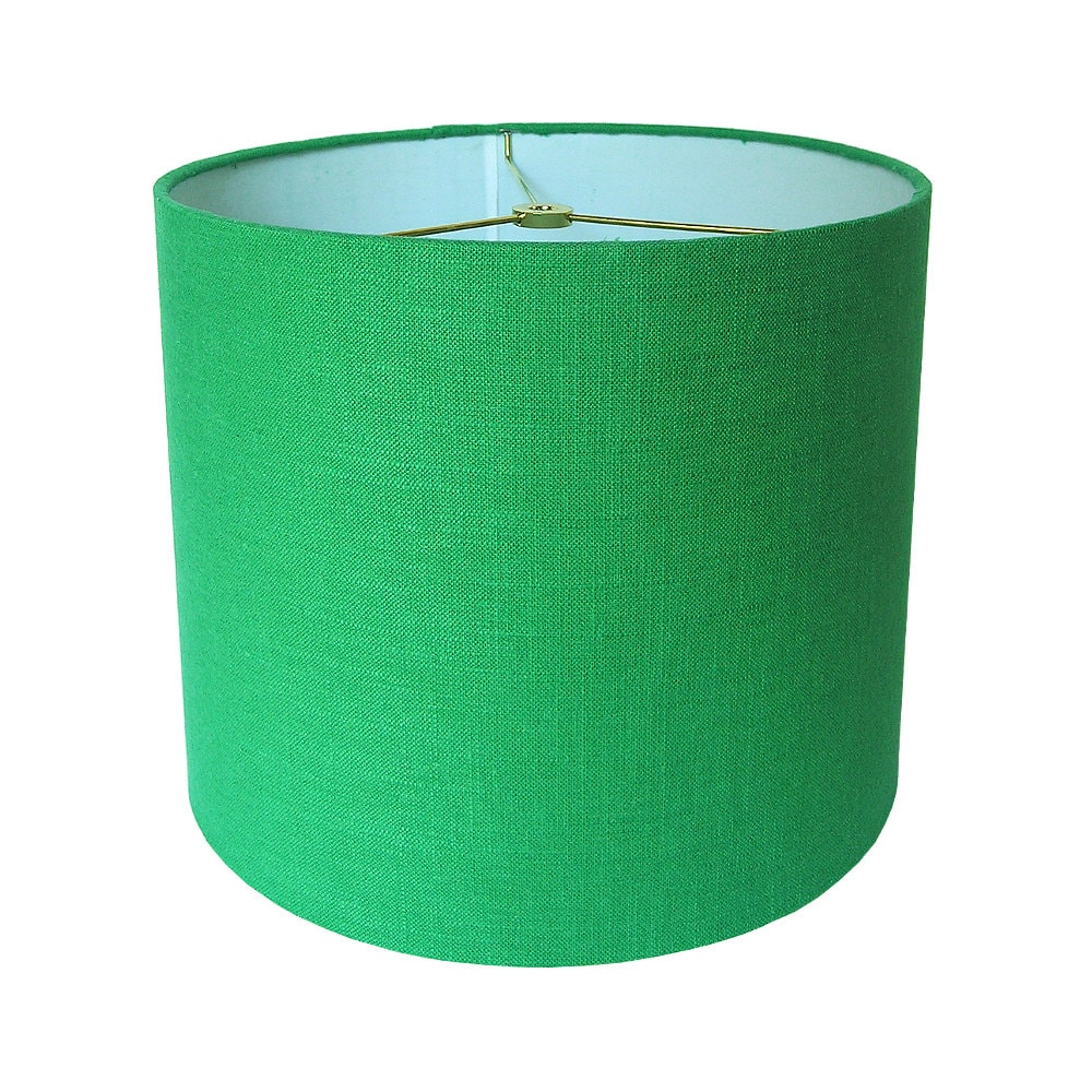 Custom Lamp Shade Green Lampshade Robert Allen Linen in