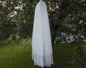 Elbow English Net Wedding Veil Made to Order 2T Cut Edge