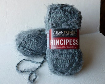 Yarn Sale  - Grey Principessa by Aslandtrends Fantasy Luxury Yarns