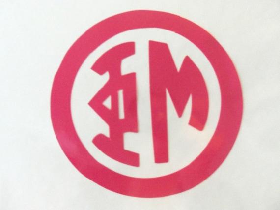 CUSTOM Greek Sorority or Fraternity Circle Monogram by ...