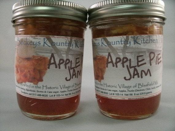 Two Jars Apple Pie jam Made by Beckeys Kountry Kitchen jam jelly preserves fruit spreads
