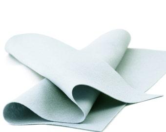 """100% Wool Felt Sheet in Color SILVER - 18"""" X 18"""" Wool Felt Sheet - Pure Wool Felt - Merino Wool Felt"""