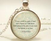 Custom Quote Necklace, Personalized Jewelry For Poem, Song Lyrics, Or Text (1728S1IN)