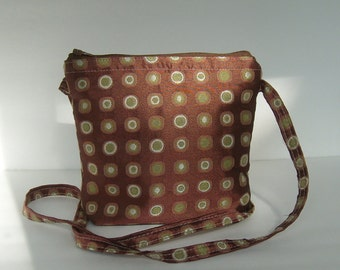 Bright Chocolate Messenger Sling Bag Purse(Zippered)