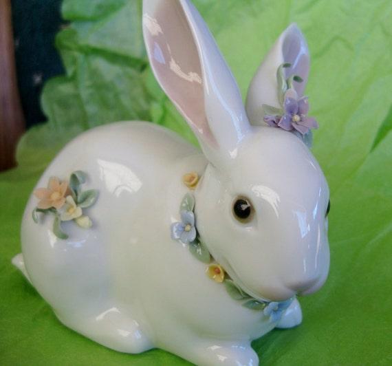 1993 Lladro Attentive Bunny 6098 Mint IOB w/ markings