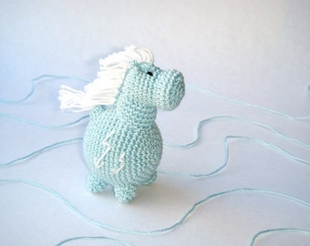 Baby Horse toy,Pony toy,Rattle Horse,Light blue,Crochet Animal,First toy for your baby,Breastfeeding,Animal rattle,baby animal toy