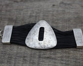 Leather Bracelet Ethnic ottoman style silver-plated bracelet Ethnic bracelet,Bohemian bracelet,tribal bracelet, ,Tribal jewelry