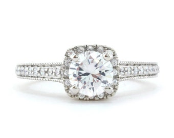 Diamond Engagement Ring Forever Brilliant Moissanite Center Ring Name Tianna