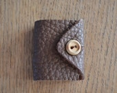 Handmade Mini Leatherbound Journal with Button Closure