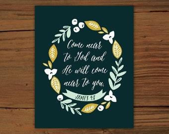 James 4:8 Print