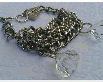 Inspired By 2 Broke Girls Silver Bracelet