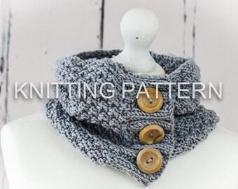 Knitting Pattern/DIY Instructions - Chunky Cowl - Neckwarmer - Scarf