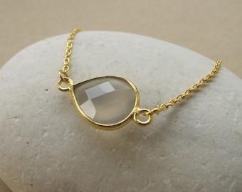 Faceted Moonstone Bracelets- Moonstone Gold Bracelets- Stone Silver Bracelets- Dainty Bracelets- Everyday Bracelets- Friendship Bracelets