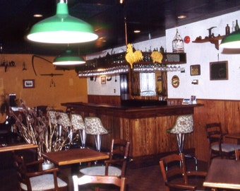 Vintage 1950s Oak Bar - 23 feet long Rec Room Man Cave Garage Party