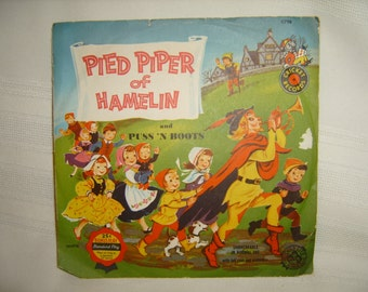Pied Piper of Hamelin Cricket Records 45 rpm vinyl