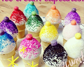 ... ice cream spoons ice cream pops with nerds cake bite ice cream cones