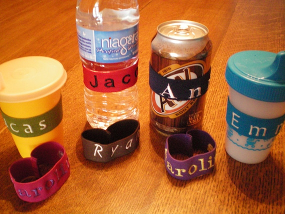 Personalized Bottle Bands Drink Buddies To Identify Your