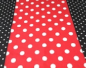 "Christmas 12"" X 44"" Red with White Polka Dot Table Runner Only"
