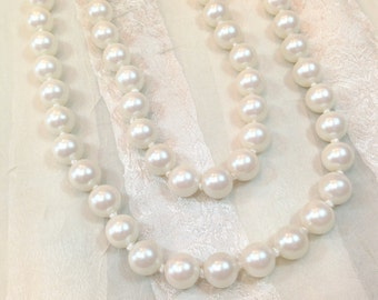 Vintage Endless Pearl Necklace or Bracelet Flapper Length Classic Retro Style