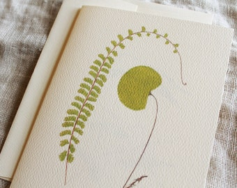 Blank Notecards Fern 10 Folded Cards With Envelopes Personalize for Free