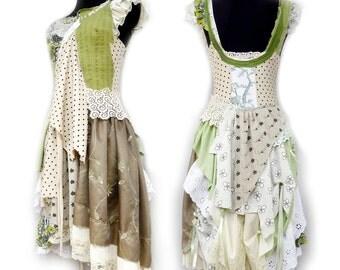 """the """"pistachiosorbet"""" dress, green & crème, xs, s, m"""