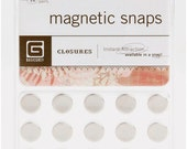 BASiC GReY - MAGNETIC SNAP CLOSURES for PAPERCRAFTiNG - GREaT for GRAPHiC 45 ALBUMs and PROJECTs