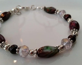 Purple Anklet, summer anklet, anklets, summer jewelry, purple jewelry