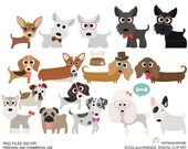 Dogs and Friends clip art part 1 for Personal and Commercial use - INSTANT DOWNLOAD