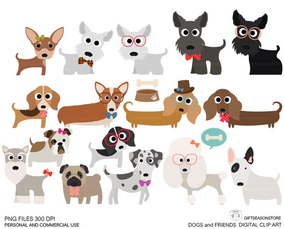 Dogs And Friends Clip Art Part 1 For Personal And Commercial