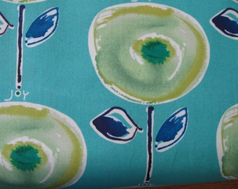 Happiness Lolipop Fabric Joy in Indigo designed by Kathy Davis for Free Spirit Fabrics 1 yard
