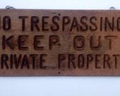 Vintage Wooden Post Sign