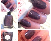 Limited Edition 2AM Coffee Run Shopping Madness Black Friday - Full Size 15ml .5 oz Dark Brown Holo Handmade Nail Lacquer