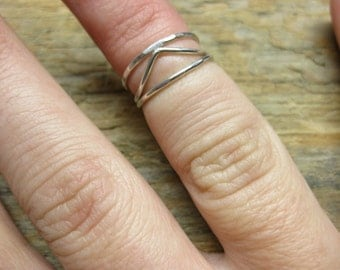 Sterling Midi/First Knuckle Ring