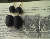 Civil War Reproduction Carved Acorn Earrings