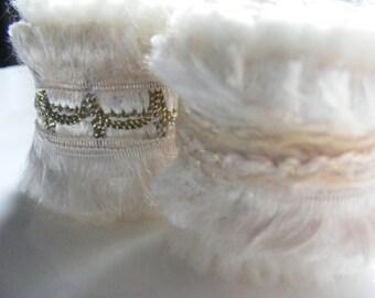 Scarf Slide Set of 2 Fiber Ring Scarf tie Pareo ring Jumbo dread bead Off white gold detal