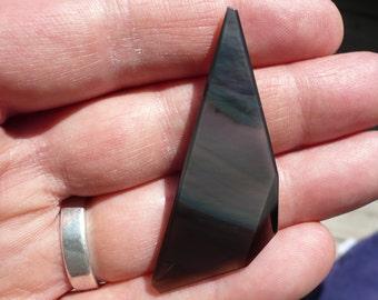 Rainbow Obsidian from Glass Butte in Oregon (flawless obsidian)
