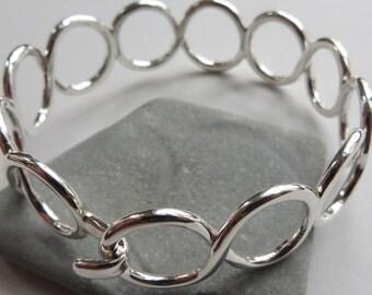 Sterling Silver Bracelet Infinity bracelet silver infinity bangle silver bangle bracelet friendship bracelet bangle