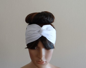 White Head Wrap. White Headband