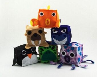 Sea Animal Plush Blocks (Set of 6)