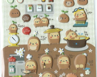 Japanese/ Korean Puffy Stickers - Mr Potato
