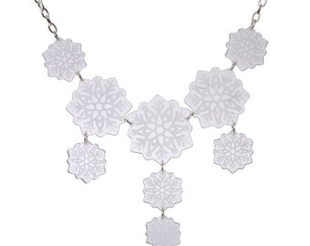 Snowflakes necklace - laser cut acrylic