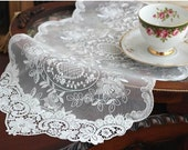 Wholesale Handmade Wedding Home Deco Tableware Table Doily Runner,Embroidery&Lace 29x50cm