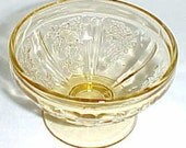 Federal Depression Glass Amber SHARON CABBAGE ROSE 2 1/4 Inch Sherbet Dish