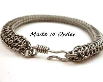 Chainmail Bracelet Stainless Steel Made to Order