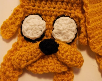 Adventure Time Inspired Crochet Jake Scarf